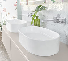 Load image into Gallery viewer, Collaro Surface-mounted Washbasin 560x360 mm Oval StoneWhite