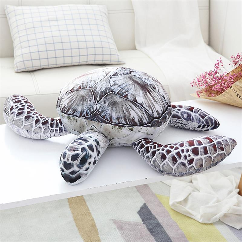 Grey and Brown Sea Turtle Stuffed Animal, Available in five sizes - RubyVanilla