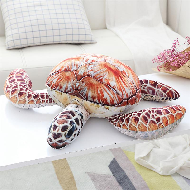Orange and Brown Sea Turtle Stuffed Animal, available in five sizes - RubyVanilla