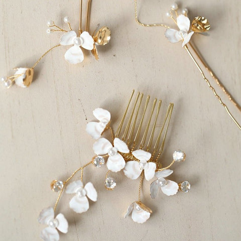 Small Flower Enamel Hair Accessories - RubyVanilla