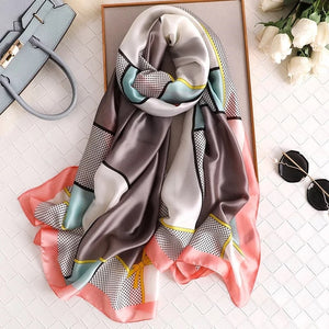 New style women Autumn winter Fashion silk scarves lady large shawl beach wraps muffler forlard pareo bandanna muffler women - RubyVanilla