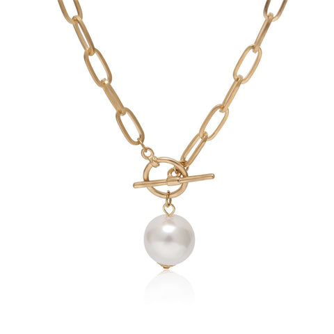 Toggle Pearl Necklace - RubyVanilla