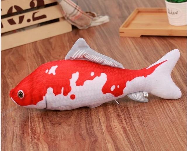 Soft Cat Toy 3D Fish Shape with Cat Nip - RubyVanilla
