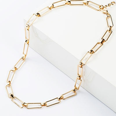 Haddock Rectangle Link Necklace - RubyVanilla