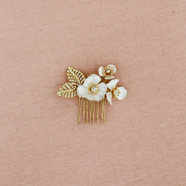 Enamel Flower Hair Accessories - RubyVanilla