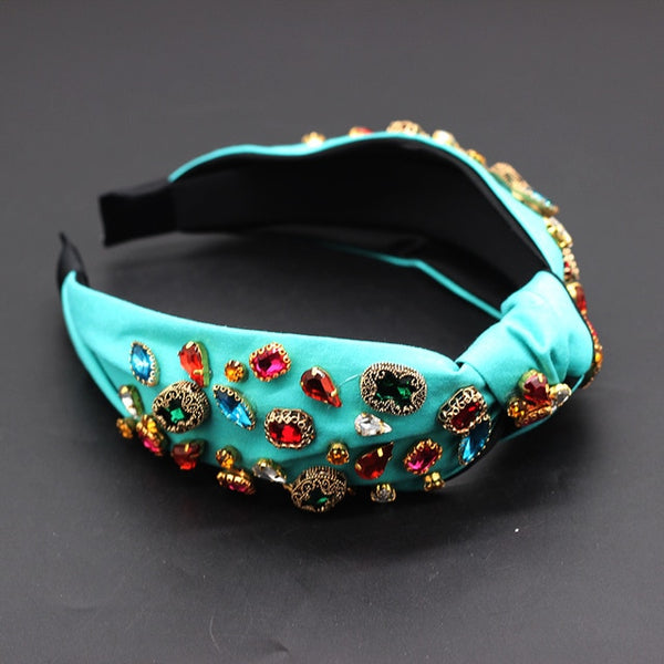 Jeweled Crystal Rhinestone Headband - RubyVanilla