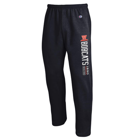 Champion Black Open bottom sweatpants