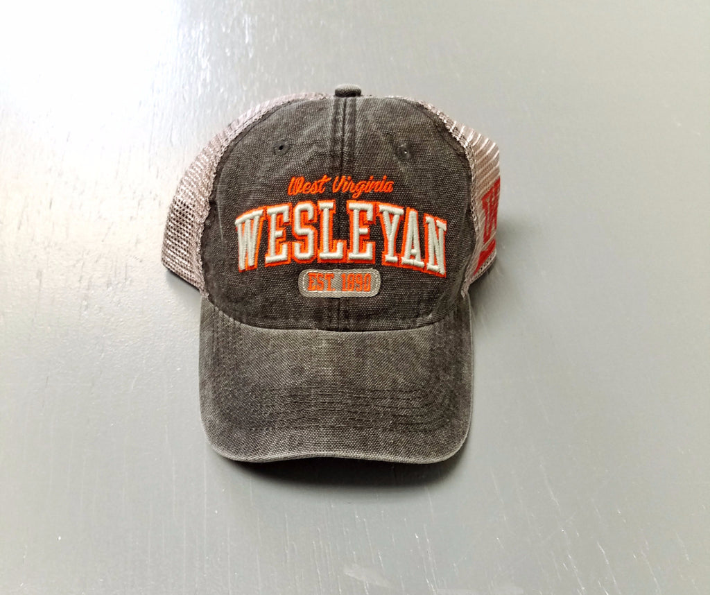 Legacy West Virginia Wesleyan black & grey Trucker Hat