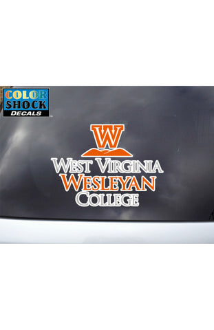 Color Shock WV Wesleyan College Decal