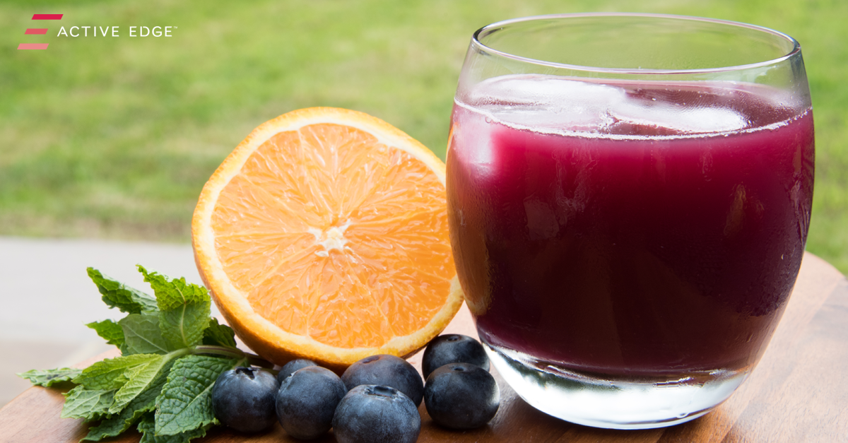 Blueberry OJ Refresher