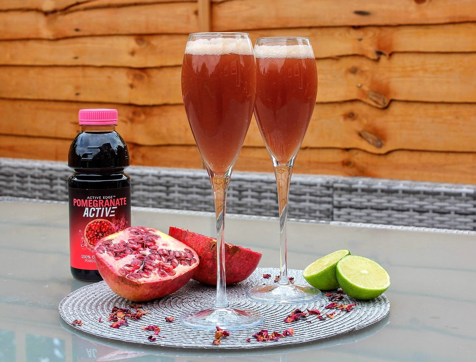 Pomegranate Rosewater Spritzer
