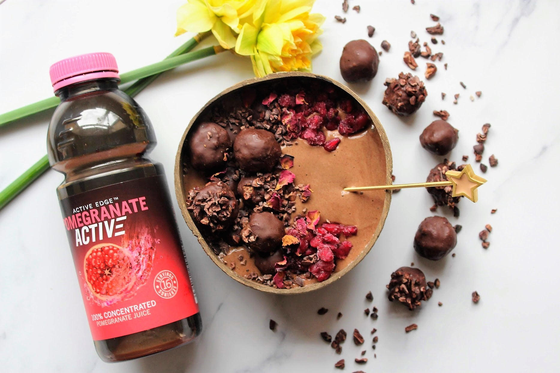 Chocolate Pomegranate Smoothie Bowl