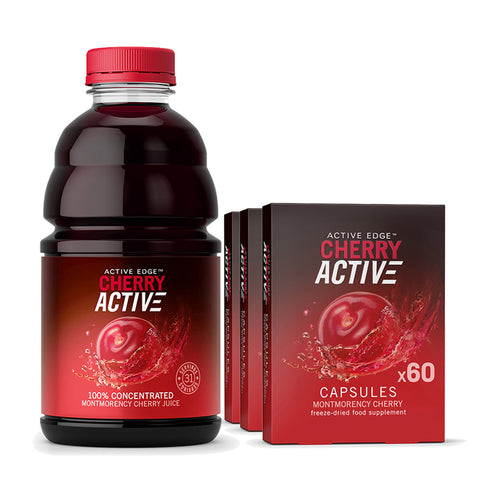 1x CherryActive 946ml & 3x 60 Capsule bundle