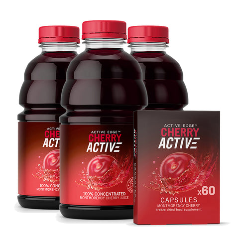 3x CherryActive 946ml & 1x 60 Capsule bundle