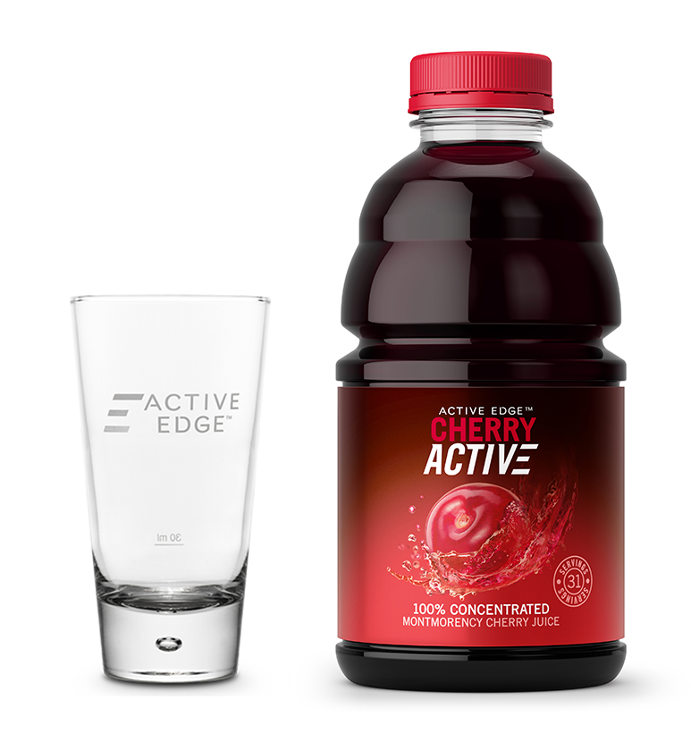 CherryActive 946ml + Glass