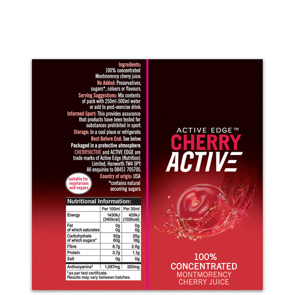 CherryActive® Shot 30ml x 24 + FREE Sports Bottle