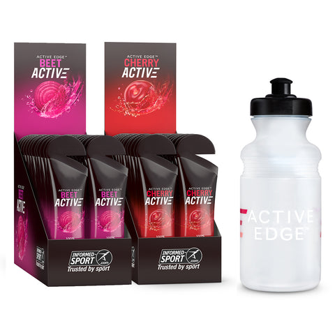 CherryActive 30ml x 24 + BeetActive 30ml x 24 + FREE sports bottle