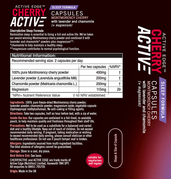 CherryActive® Sleep Formula Capsules 30's - Special Introductory offer (Normal RRP is £11.99)