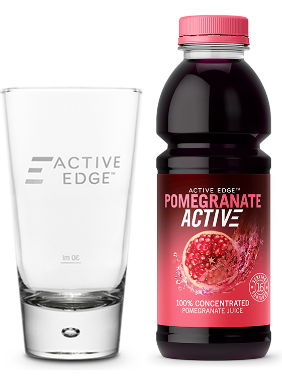 PomegranateActive 473ml + FREE Glass