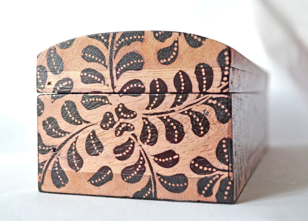 Batik Box - Handcrafted decorative wooden keepsake box