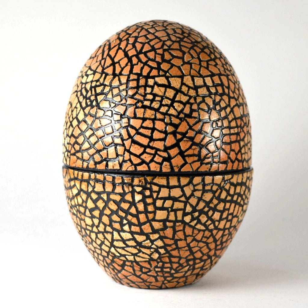 Mosaic Eggshell Box, Handcrafted, Fair Trade, Unique Gift