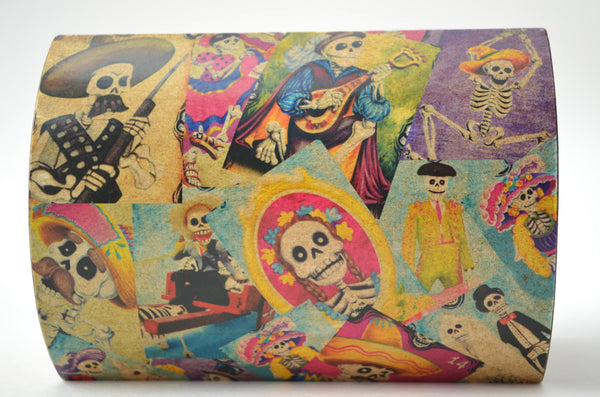 Day of the Dead Decoupage wooden box, wooden box, keepsake box