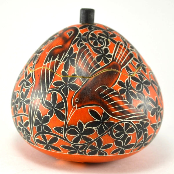 Vine and Birds Gourd Box | Handcrafted keepsake box | Fair Trade