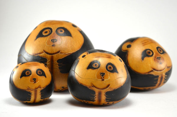 Panda Nesting Gourd Boxes | Handcrafted Box,Fair Trade,Unique Gift