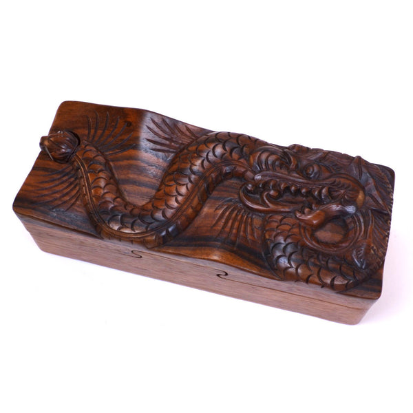puzzle box | hand carved dragon, fair trade from Bali