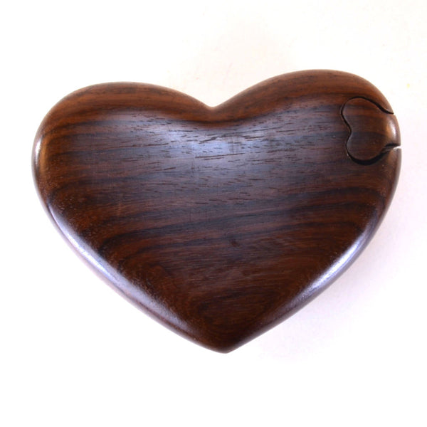 Puzzle Box | Wooden heart puzzle box, top shown