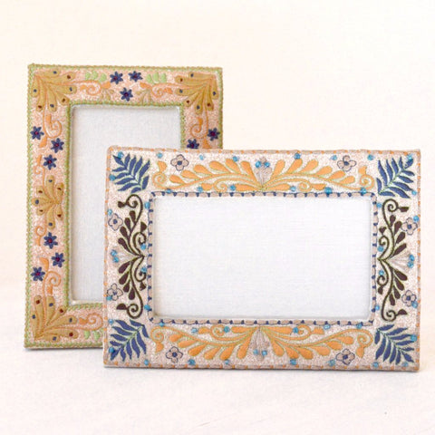 Handcrafted Embroidered Photo Frames set of two