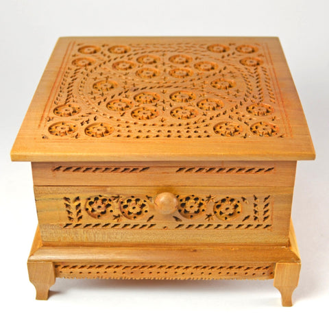 Floral Kadam Wood Box, keepsake box, wooden boxes, handcrafted