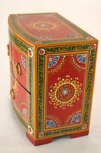 Decorative Box Hand Painted Chest Handcrafted Dogwood