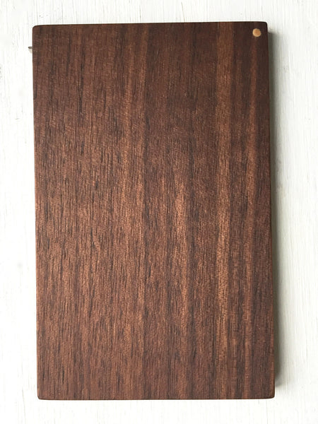 Business Card Case, walnut wood, handcrafted, top shown