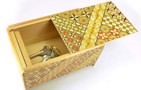 puzzle box | japanese puzzle box with koyosegi pattern, open top