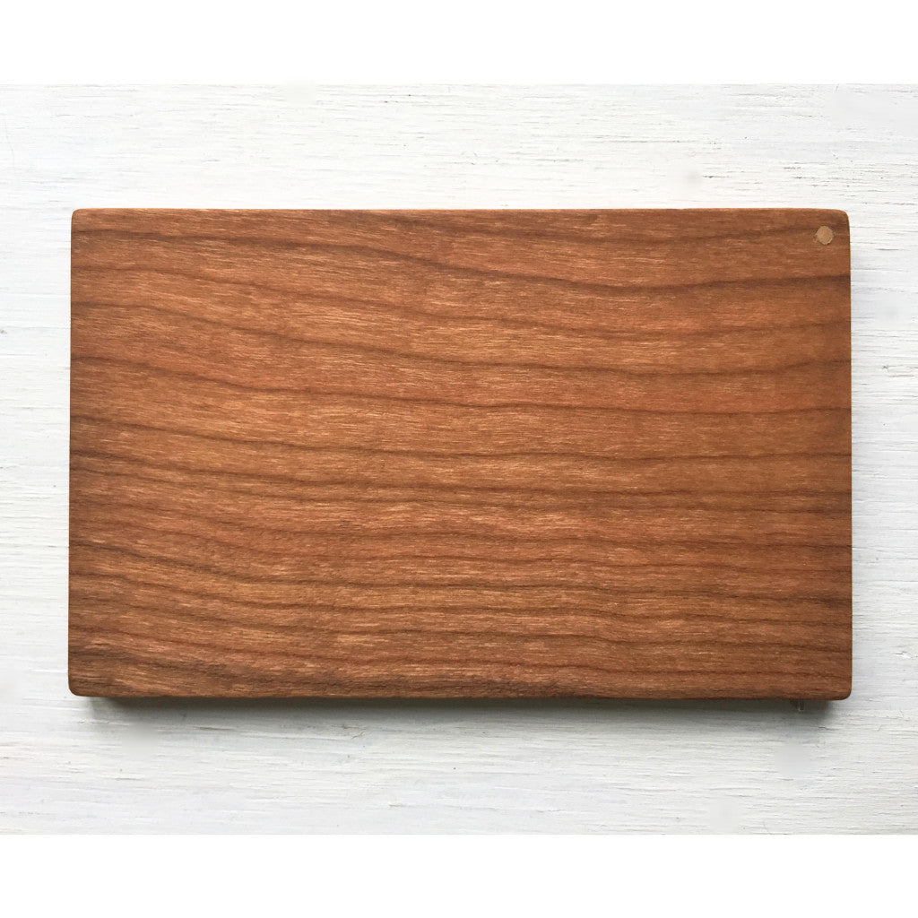Business Card Case, handcrafted from cherry wood, flip top