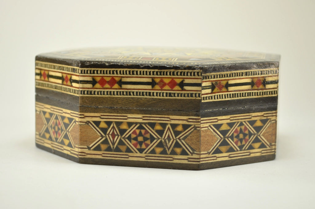 wood inlay box handcrafted wooden mosaic decorative box - Decorative Boxes