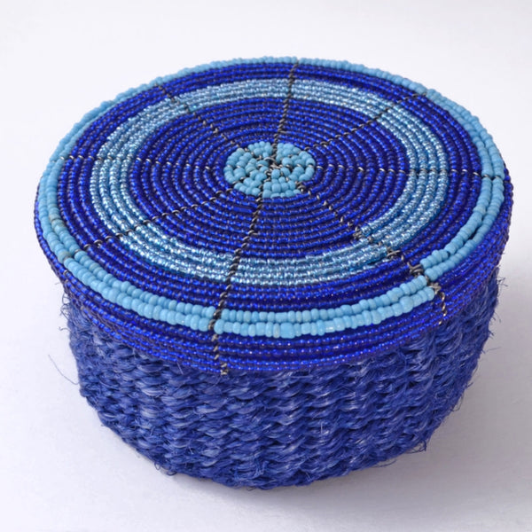 Beaded Top Basket, Handcrafted Box, Unique Gift, Fair Trade Africa