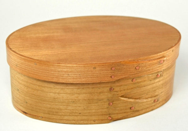 Cherry Shaker oval box, traditional handcrafted wooden box