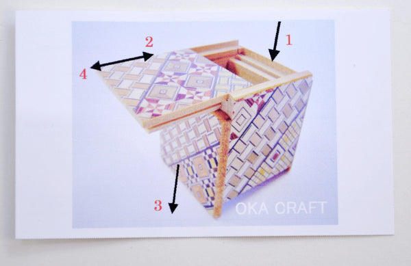 puzzle box | Koyosegi pattern on Japanese puzzle box, instruction sheet