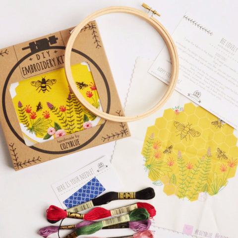 DIY Embroidery Kit Bee Lovely With Supplies Included