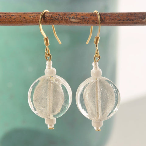 Frosted Glass Beaded Earrings