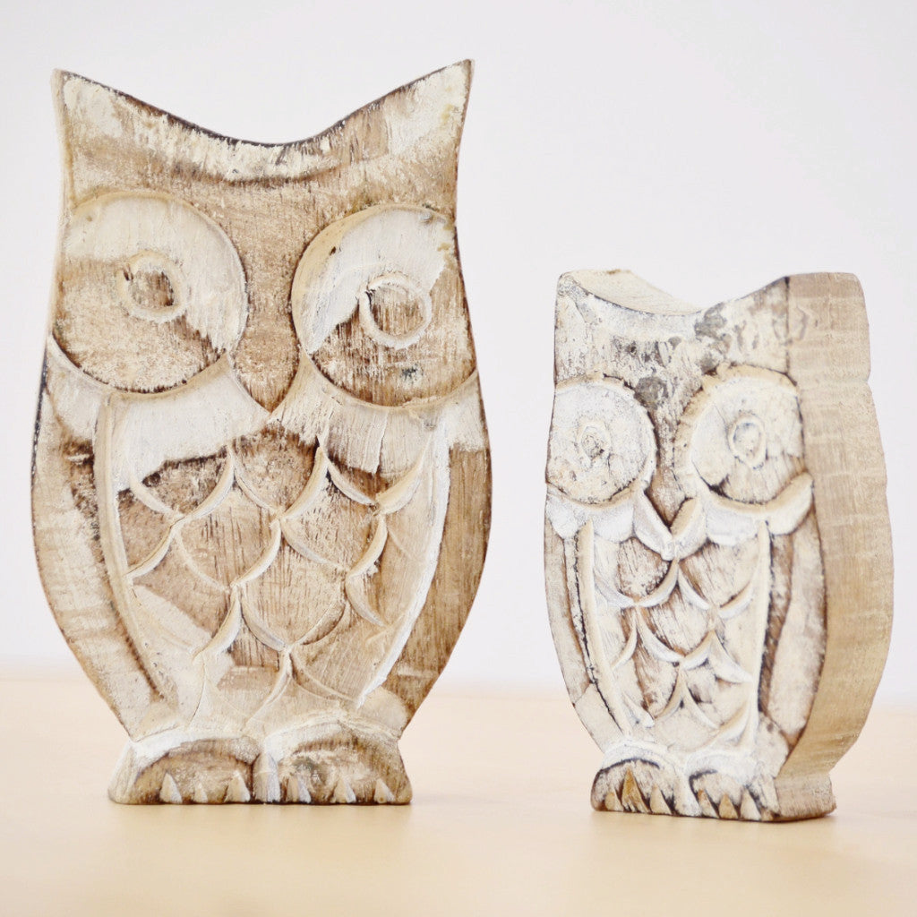 Wooden Owls - Set of 2