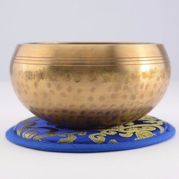 Hand Hammered Brass Singing Bowl Set Side View