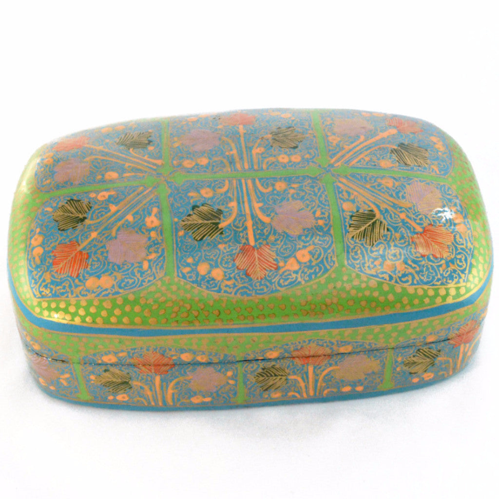 Hand Painted Decorative Box | Keepsake box, paper mache from Kashmir