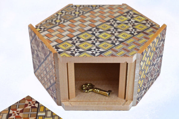 puzzle box | japanese puzzle box showing open panel