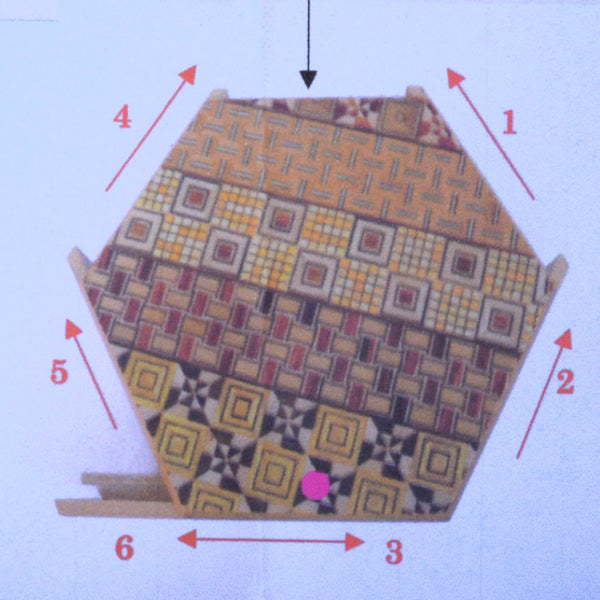 puzzle box | japanese puzzle box, instruction sheet