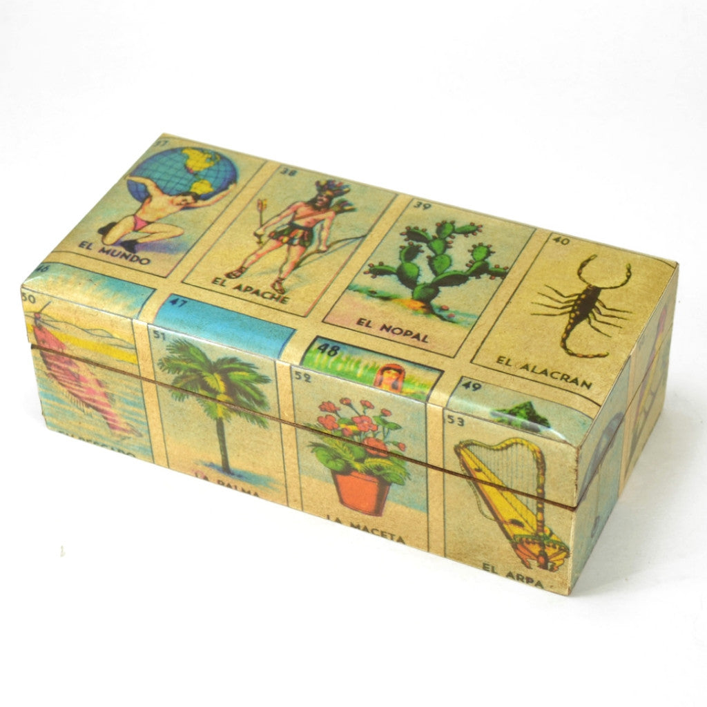 Loteria Box | Handcrafted Box, Fair Trade from Mexico | Unique Gift