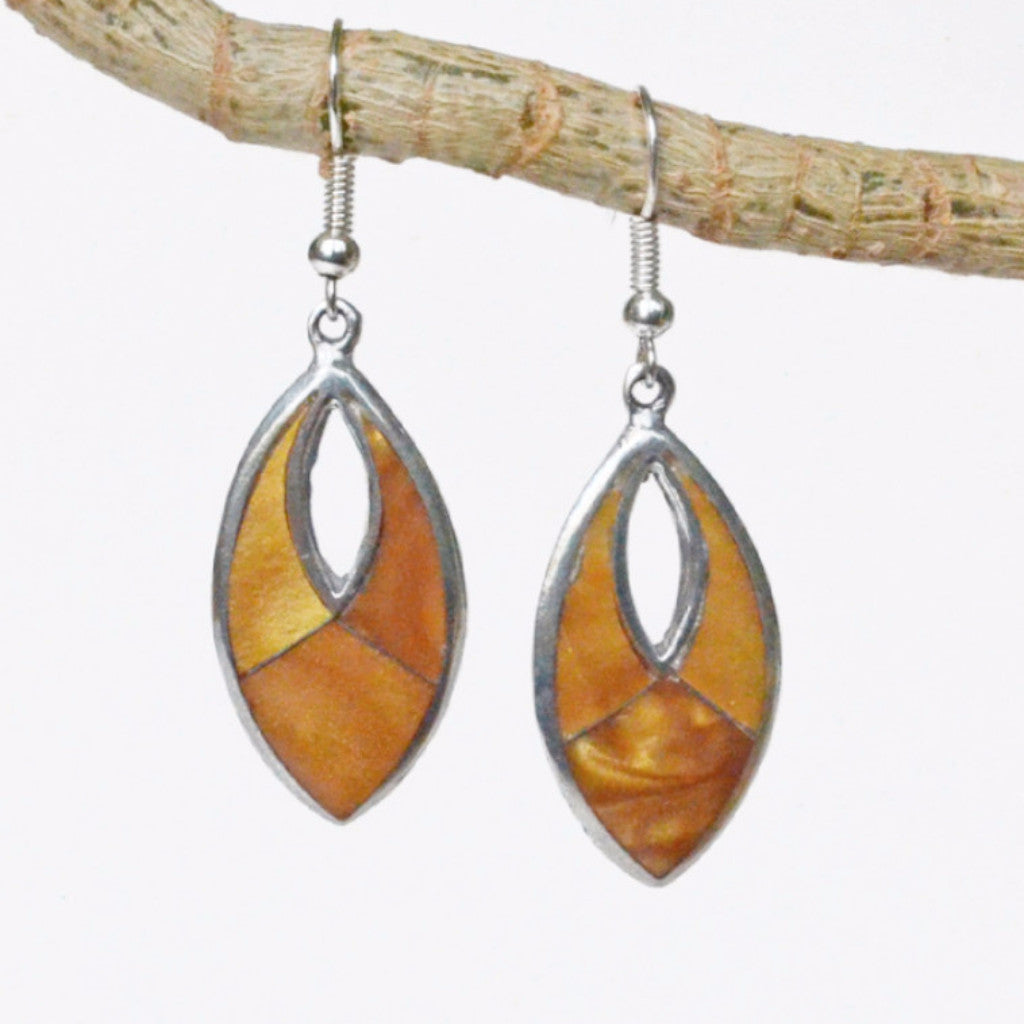 Tiger's Eye Silver Earrings Handcrafted in Mexico