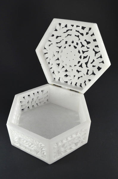 Carved Marble Box,Handcrafted Box, Fair Trade, Unique Wedding Gift